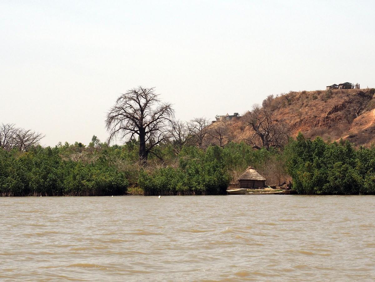 Kleines Fischerdorf am Gambia River
