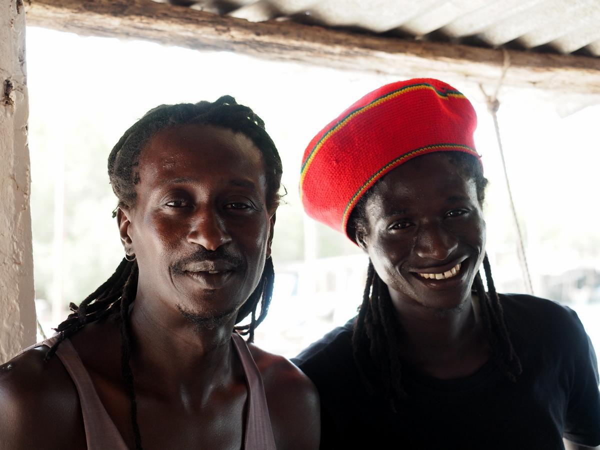 Gee und sein Bruder Aliou