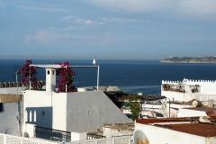 Die Straße von Gibraltar, von Tanger aus gesehen