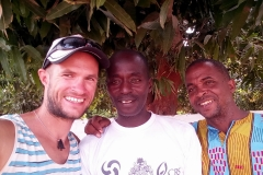 Martin, Ismael (mitte) und Momodou