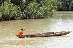 Der Kleinste im größten Kanu