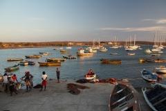 Die Bucht von Palmeira. Unten links der Fischmarkt und unten Mitte Jay in seinem Boot
