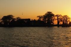 Kunta Kinteh Island im Sonnenuntergang