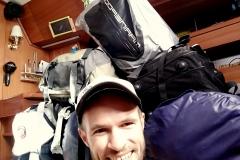 Ein Teil des Gepäcks - der Rest kommt in Paketen