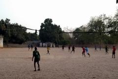 Während des Fußballtrainings