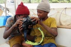 Bai und Ibrahim zu Besuch an Bord