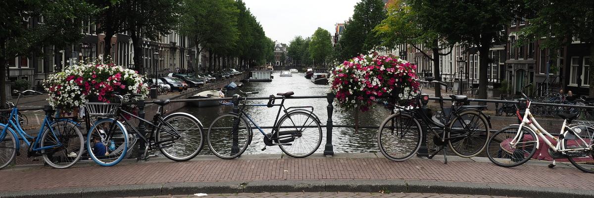 Fahrräder, Grachten und Blumen bestimmen die Innenstädte