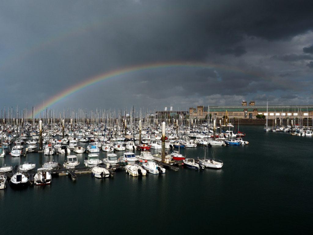 Das Wetter im Englischen Kanal ist sehr wechselhaft