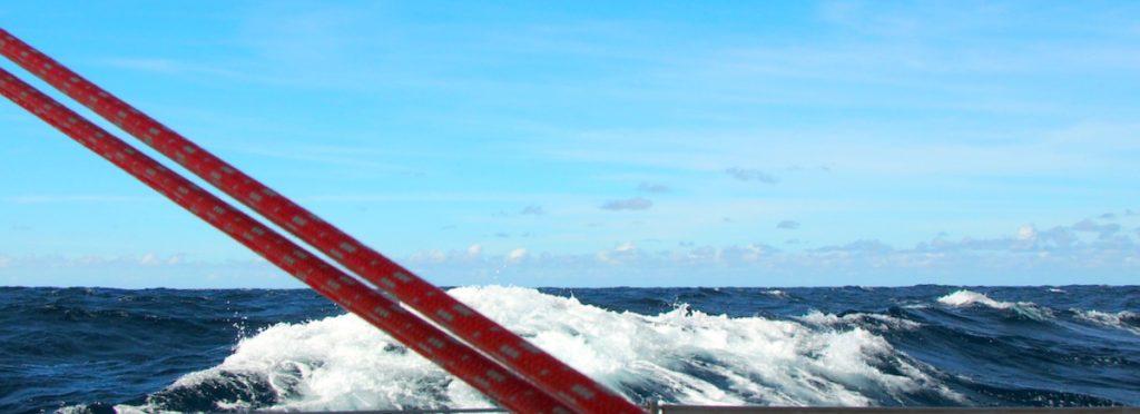 Die Biscaya ist windig und wellig auf den letzten Meilen