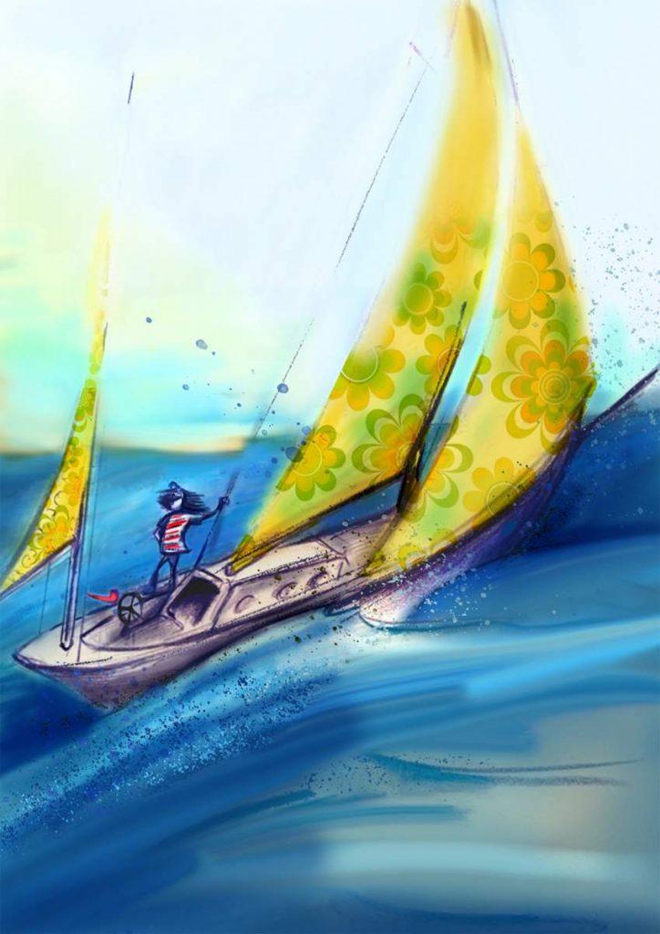 Und das ist Elmos Boot: die Rasmus